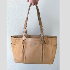 Coach saddle leather East West Gallery tote